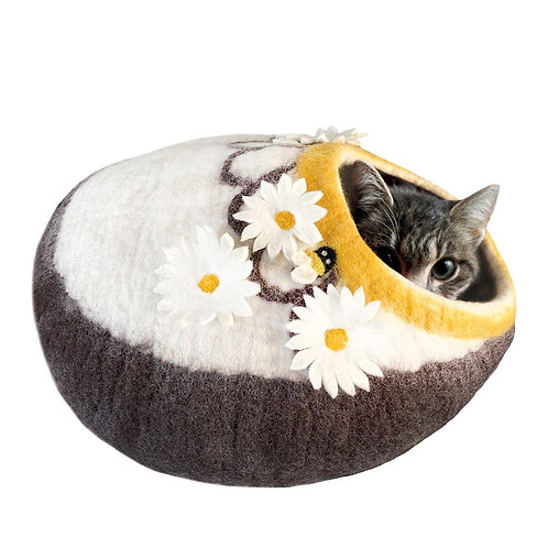 Bee and Daisies Cat Cave
