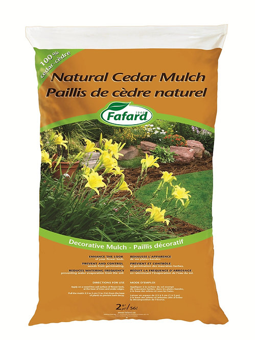 Natural Cedar Mulch 2 CuFt Bag