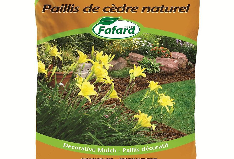 Natural Cedar Mulch 2 CuFt Bag