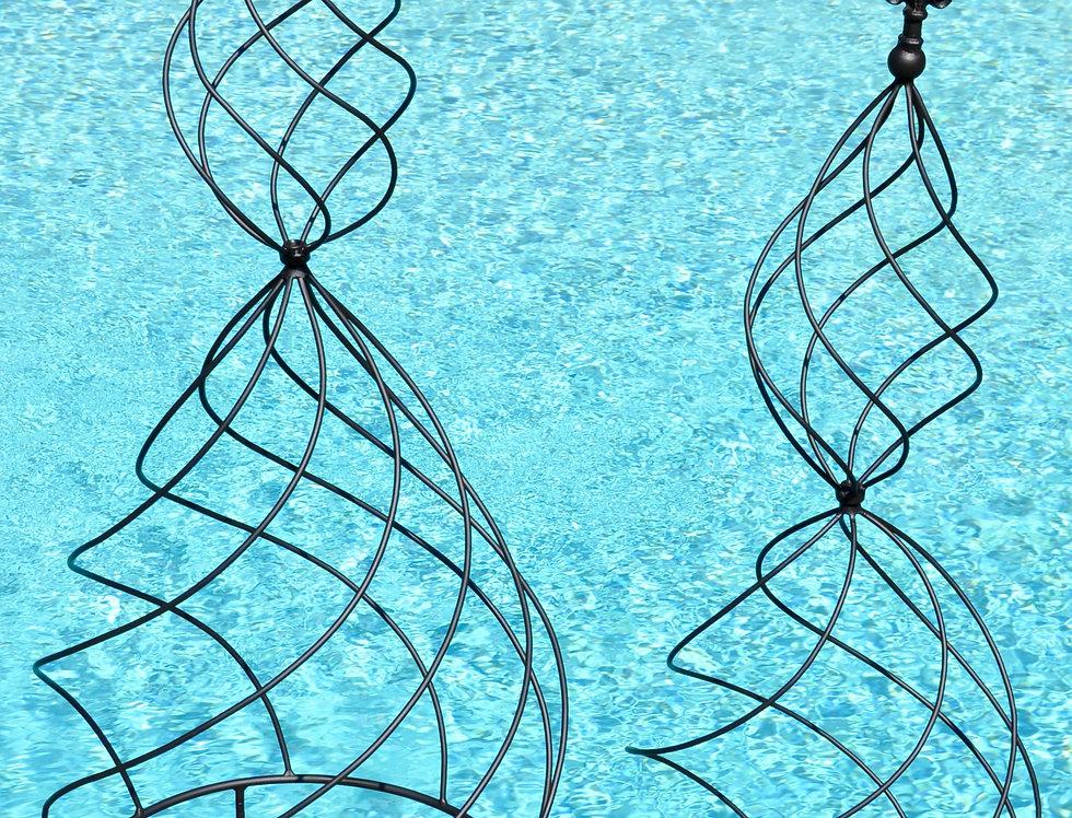 Hour Glass Swirl Obelisk S/2