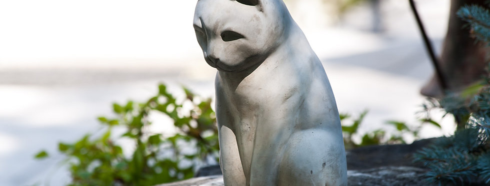 "Sitting Grey Cat-9.5""H"
