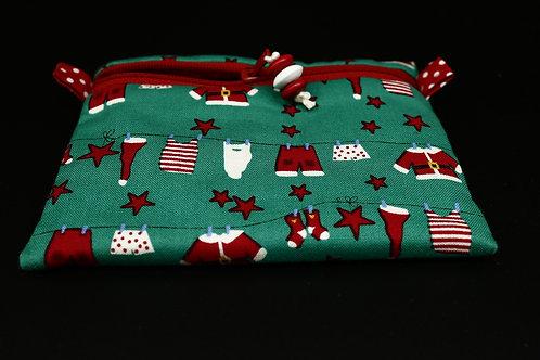 Schlüssel-Täschchen Waschtag beim Weihnachtsmann
