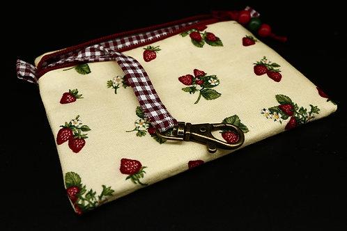 Schlüssel-Täschchen Erdbeeren