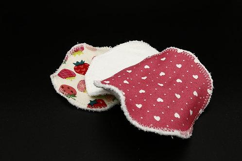 Abschminkpads Erdbeeren Dreierset