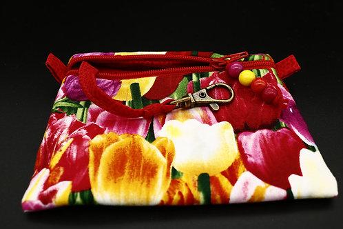 Schlüssel-Täschchen Tulpen