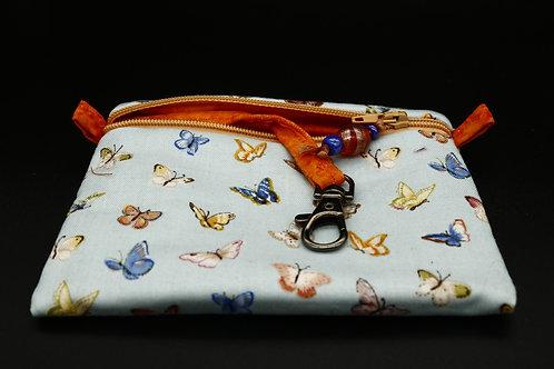 Schlüssel-Täschchen Schmetterlinge