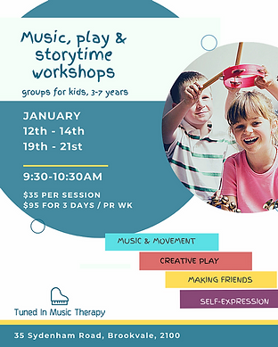 Music, Play & Storytime Workshops