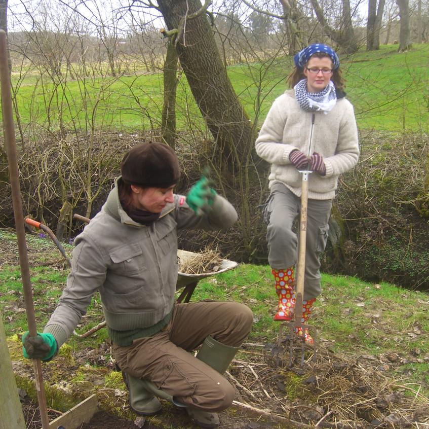 Kertészkedem Angie-va, a német kollégával
