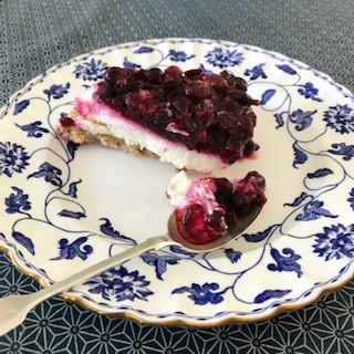 Sheena's Blackcurrant Cheesecake