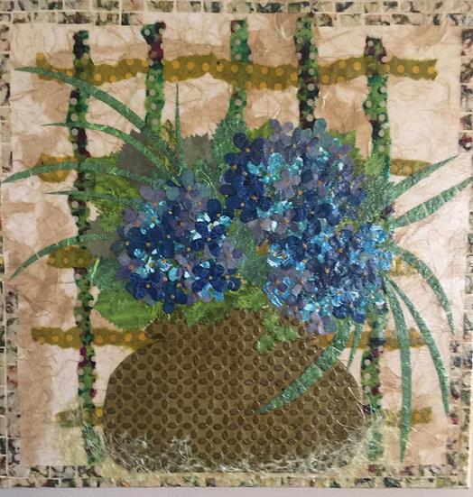 """Blue Hydrangea Vased"""