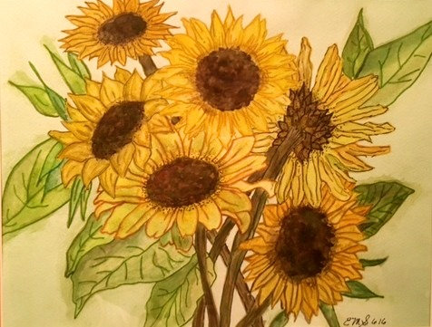 """Noon Sunflowers"""