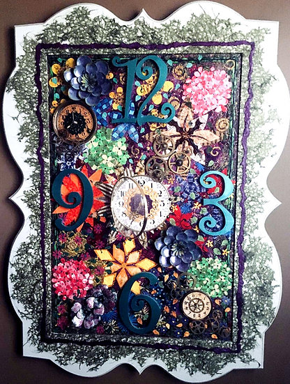 """Garden Lace Clock"" SOLD"