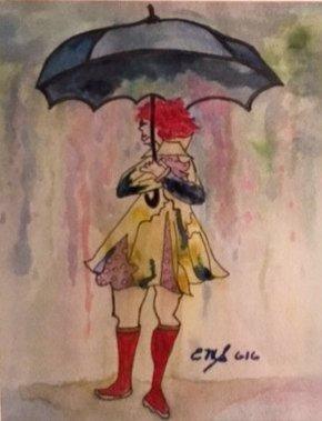 """""""Rainy Day Blues"""" SOLD"""