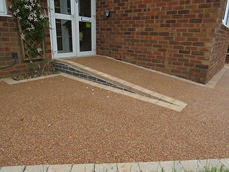 resin bound access ramp
