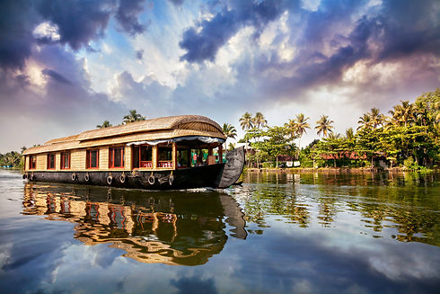 Boating in Alappuzha, Asia