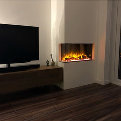accent fireplace feature