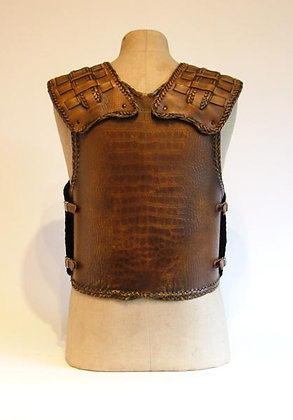 Crocodile Hide Effect Leather Cuirass