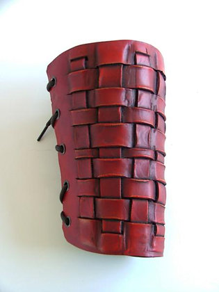 Leather-Look Woven Bracers