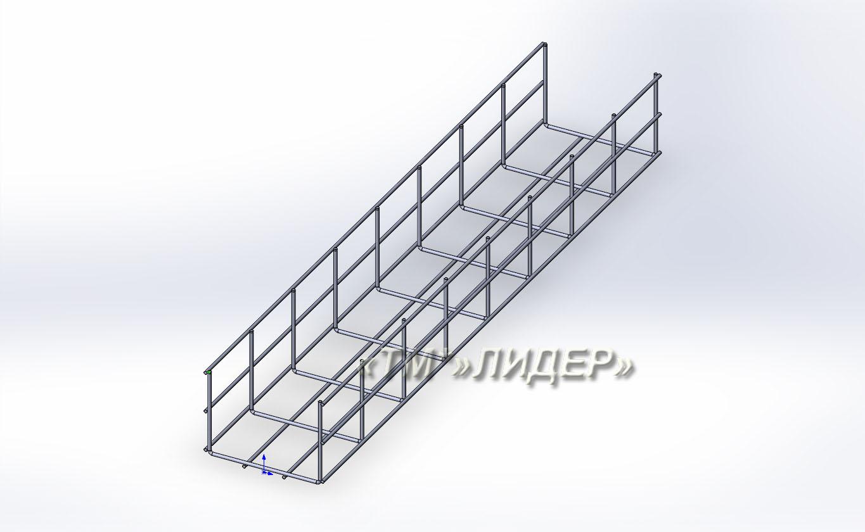 Проволочный лоток 150х105х3000*4мм