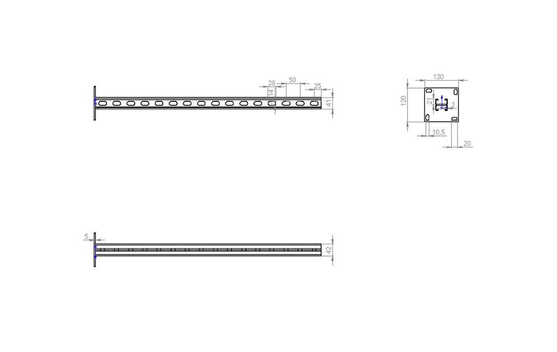 Квс2 стойка вертикальная MS страт