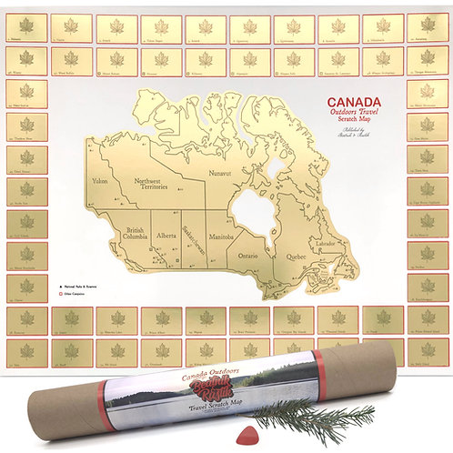 Canada Outdoors Scratch Map