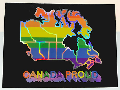 Pride Flag Holographic Sticker