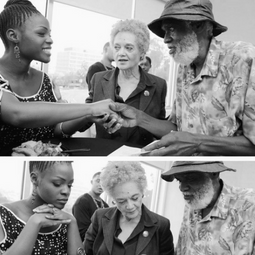 With Kathleen Cleaver.