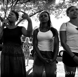At the first Black Lives Matter protest in July 2013 following the acquittal of George Zimmerman.