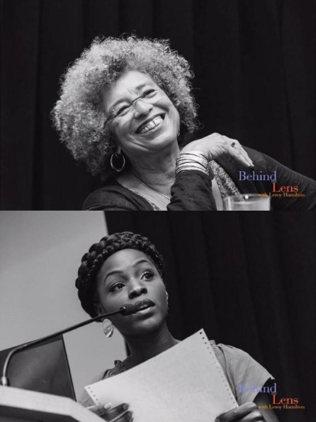 "Performing ""Woke Black Folk"" for the first time at the CSULA Pan African Studies Forum with Angela Davis."
