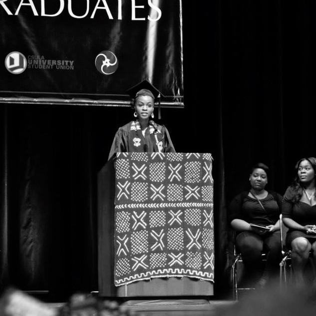 CSULA Black Grad speaker 2013.