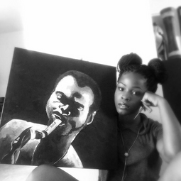 A painting I did of Fela Anikulapo Kuti.