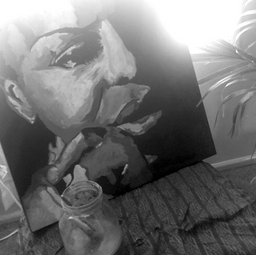 A painting I did of Nina Simone in 2012.