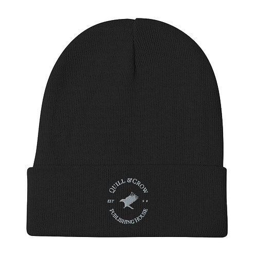 Quill & Crow Embroidered Beanie