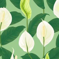 white beauty in green.JPG