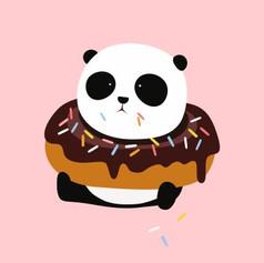 panda in donut.JPG
