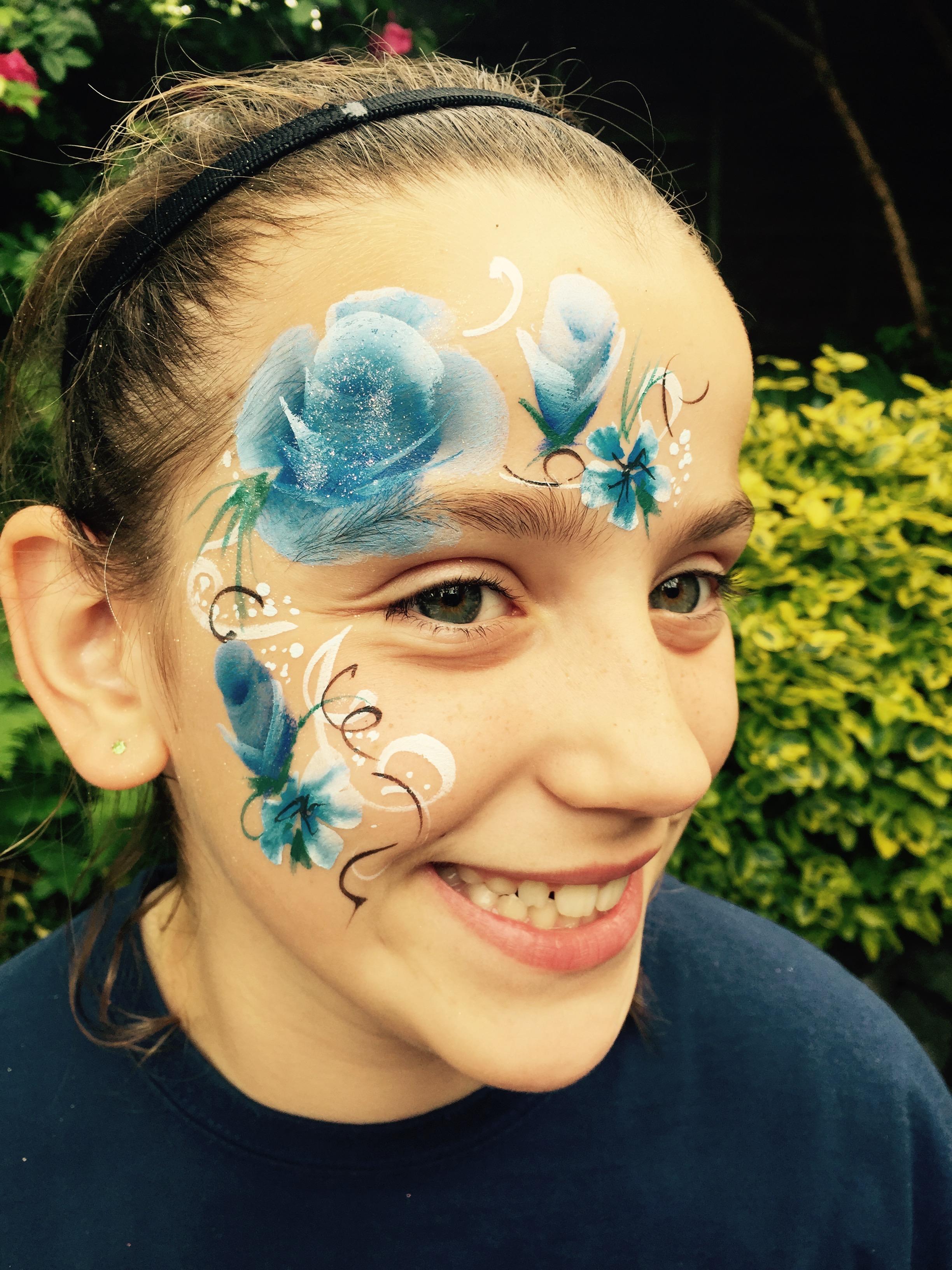 Beanys-facepainting-blueroses
