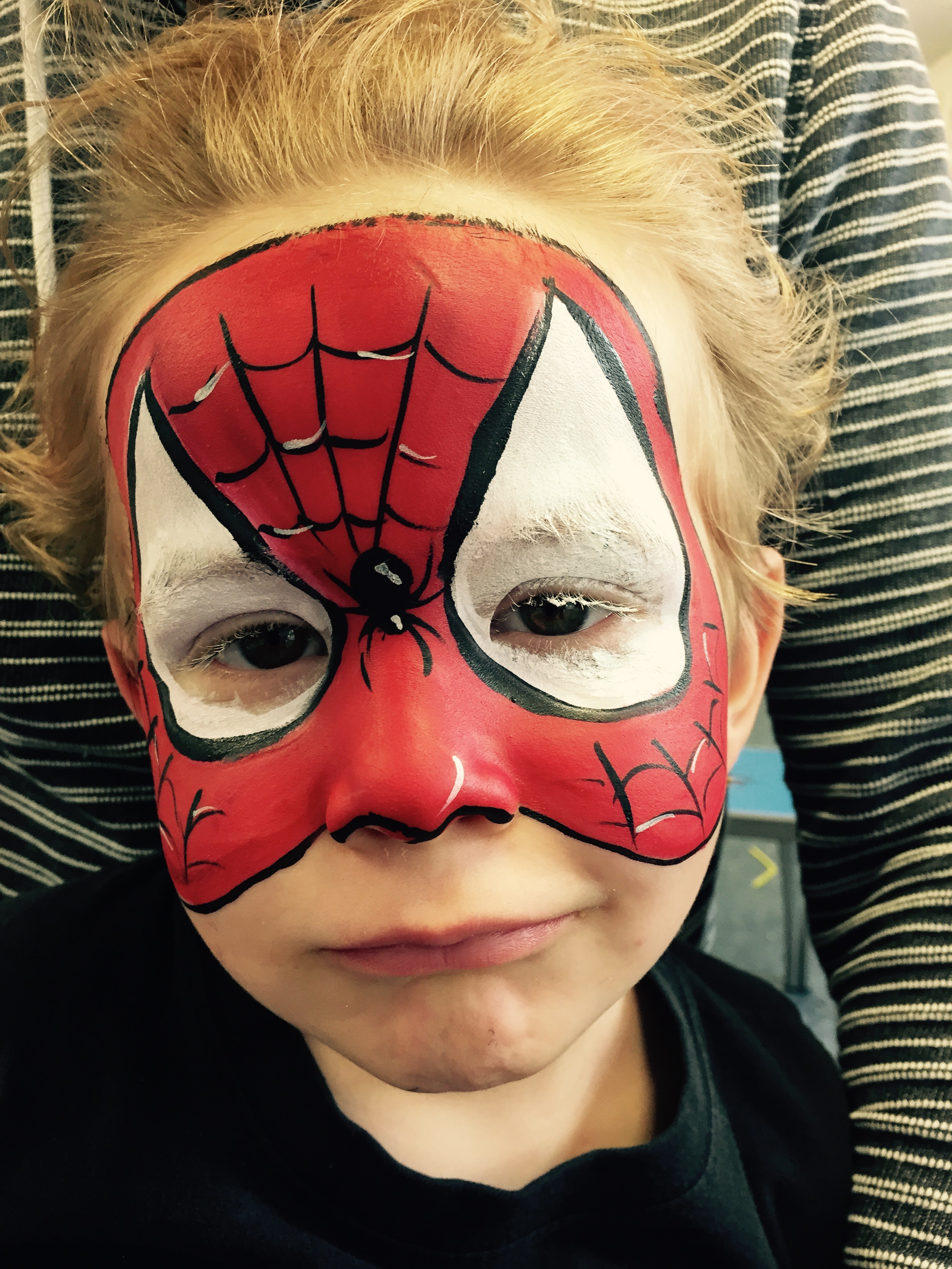 Beanysfacepainting-spiderman