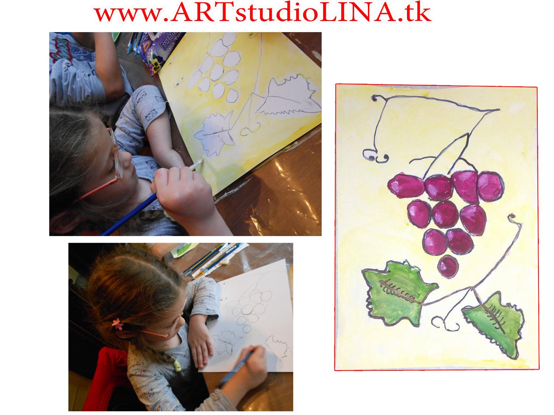 катя с виноградом