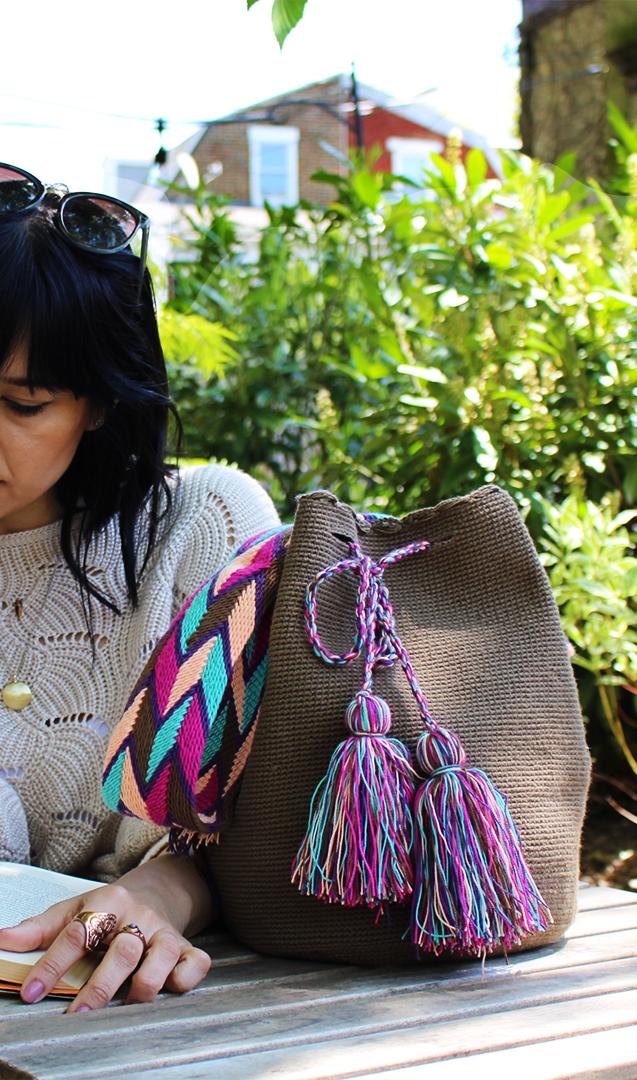 Single Color Wayuu Bag