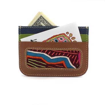 Leather + Mola Card Pocket