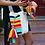 Thumbnail: Wayuu Mochila   Multicolor Horizontal Stripes   Handmade   Bell