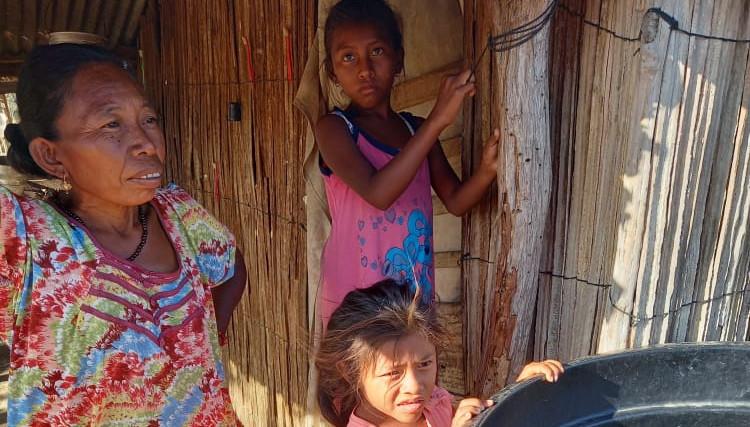 Wayuu Family Receiving Water Donation