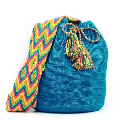 Wayuu Mochila | Handmade in Colombia  | Solid Blue