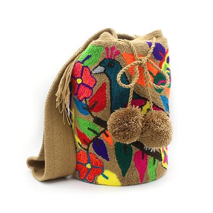 Wayuu Mochila | Tapizada Style | Handmade in Colombia | Peacock | Boho & Chic