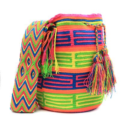 Wayuu Mochila | Bright Colorful Neon Colors