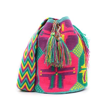 Wayuu Mochila| Multicolor Patterns | Pastel Colors
