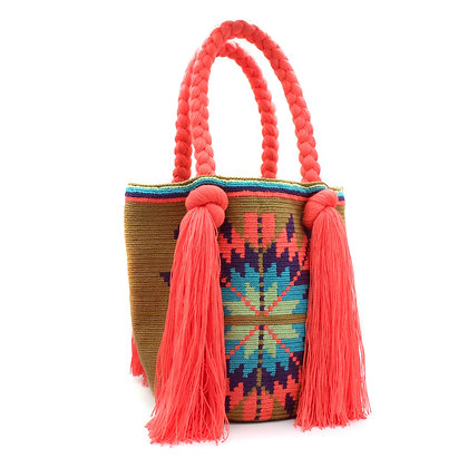Colombian Wayuu Bag | Braided with Multicolor Patterns | Handmade | B