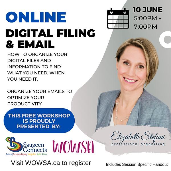 Digital Filing Workshop w. Elizabeth Ste