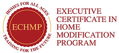 Executive Certificate in Home Modification Program.  Homes for all ages training for the future logo.