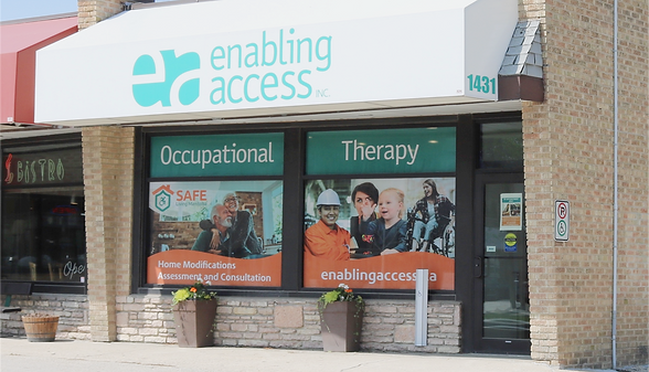 Photo of front entrance of Enabling Access Clinic